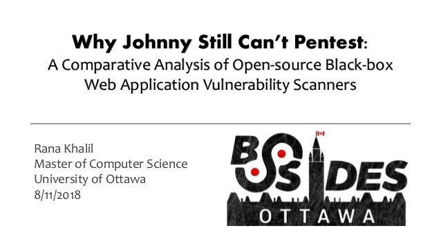 Why Johnny Still Can't Pentest: A Comparative Analysis of Open-source Black-box Web Application Vulnerability Scanners Ran...