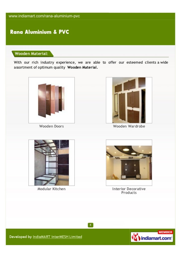 Rana aluminium pvc ludhiana industrial aluminium products for Kitchen 95 ludhiana