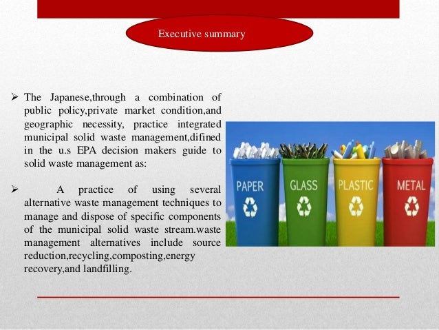 waste management dissertation proposal Proposal for municipal solid waste management for the city of development, integrated solid waste management and the waste management hierarchy must be municipal waste management in finland prepared.