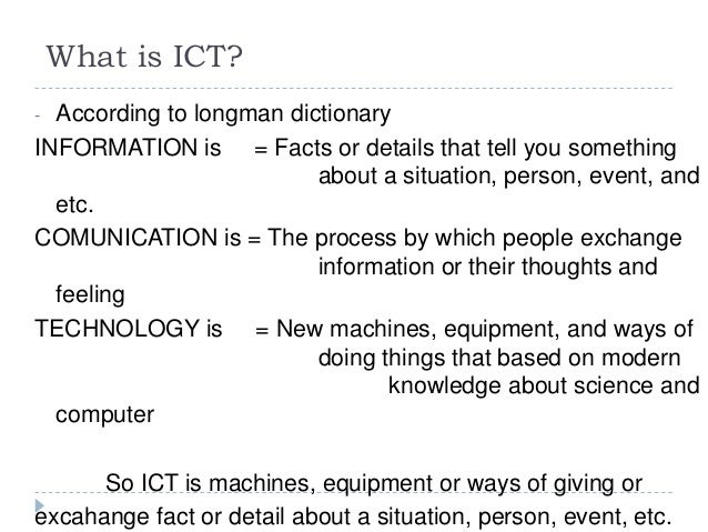 what does sort mean in ict