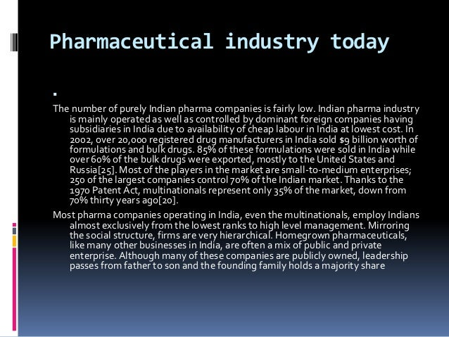 swot analysis of pharmaceutical industry