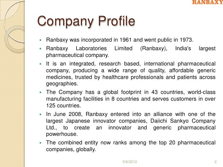 Profile Of Company Format Business Company Profile Templatedoc – Profile Format