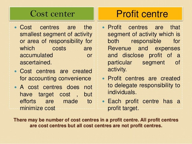 cost centres profit centres investment centres Management accounting – performance evaluation  n cost centres  financial management article on management accounting performance evaluation.
