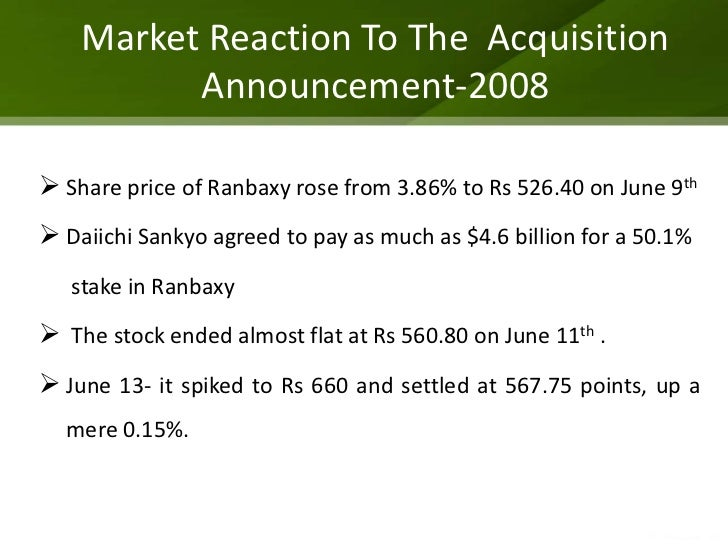 daiichis acquisition of ranbaxy Ranbaxy acquisition by daiichi sankyo case solution,ranbaxy acquisition by daiichi sankyo case analysis, ranbaxy acquisition by daiichi sankyo case study solution, this case is a trading.