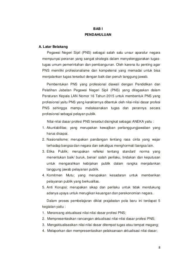 Rancangan Aktualisasi Gol Ii Prajabatan 2015