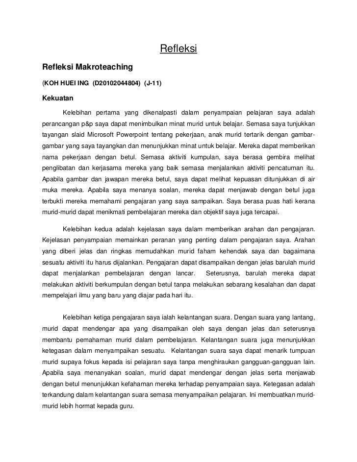Rancangan Harian Dan Refleksi Makropengajaran