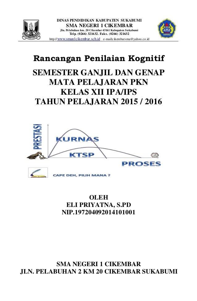 DINAS PENDIDIKAN KABUPATEN SUKABUMI SMA NEGERI 1 CIKEMBAR Jln. Pelabuhan km. 20 Cikembar 43161 Kabupaten Sukabumi Telp. (0...