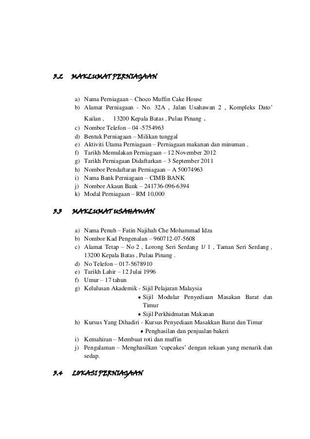 Rancangan Perniagaan Fatin Najihah 5 Kt2