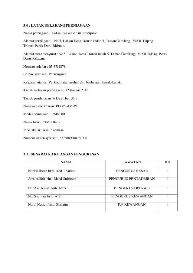 Rancangan perniagaan taska 229ba43a51