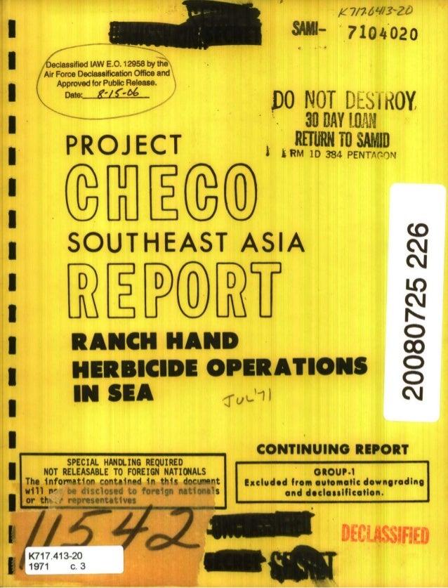 S7104020 PO NOT DESIROY 30 DAY [LW PROJ ECT WN TO,,SAD,p II ~ RM 1D384 PENTr-om I SOUTHEAST ASIA cj D D D LO RANCH HAND c ...