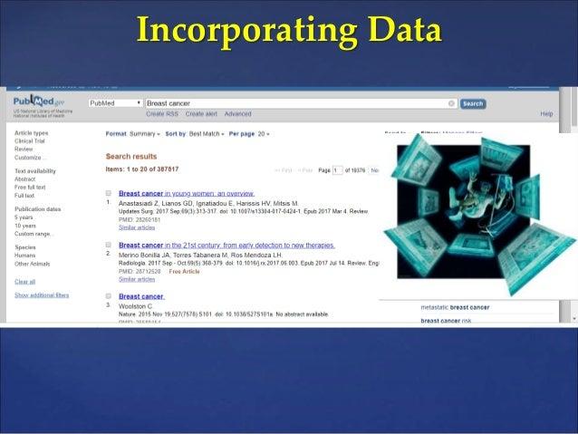 Incorporating data for management of breast cancer Slide 2