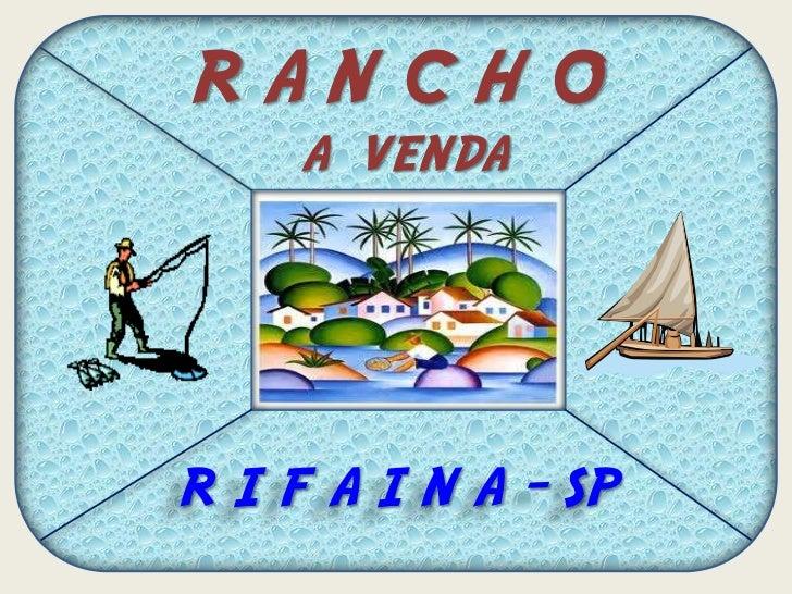 RANCHO     A VENDAR I F A I N A - SP