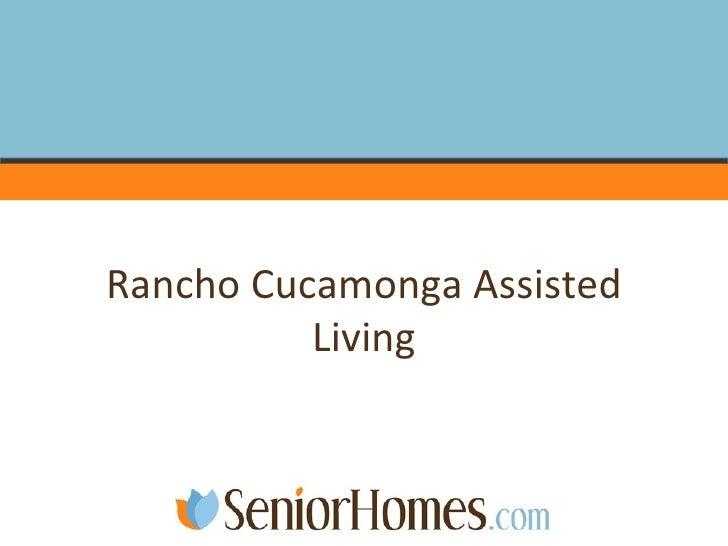 Rancho Cucamonga Assisted Living