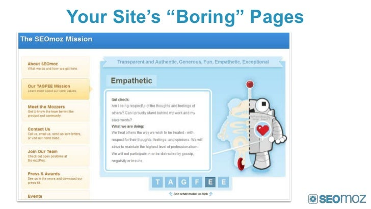 "Your Site's ""Boring"" Pages"