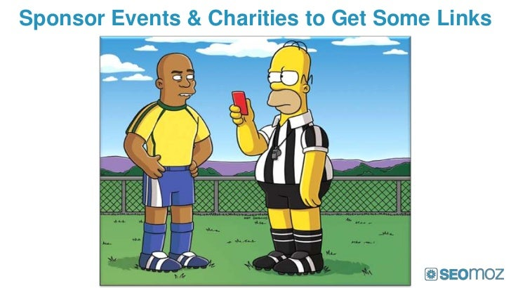 Sponsor Events & Charities to Get Some Links