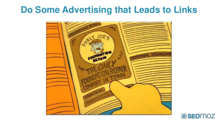 Do Some Advertising that Leads to Links