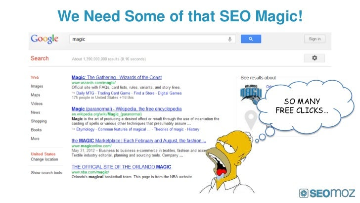We Need Some of that SEO Magic!                             SO MANY                           FREE CLICKS…