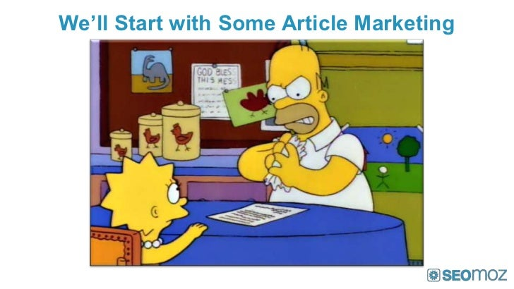 We'll Start with Some Article Marketing