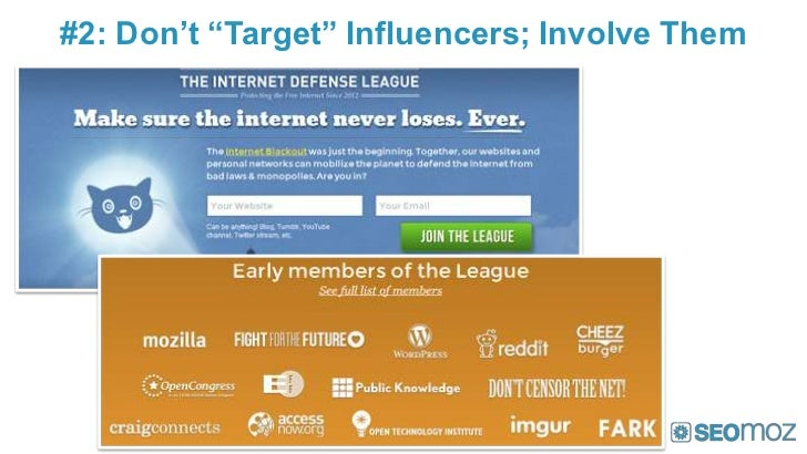 "#2: Don't ""Target"" Influencers; Involve Them"