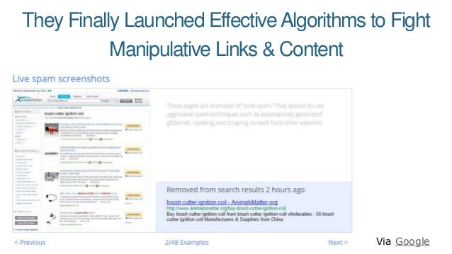 They Finally Launched EffectiveAlgorithms to Fight Manipulative Links & Content Via Google