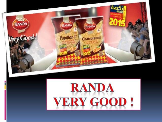 Présentation du marque  RANDA est une entreprise tunisienne, spécialisée dans la transformation du blé dur en semoule et ...