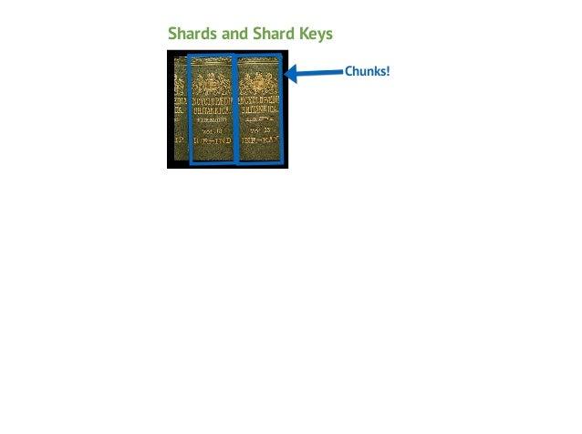 Shards and Shard Keys Chunks!  Shard Keys!