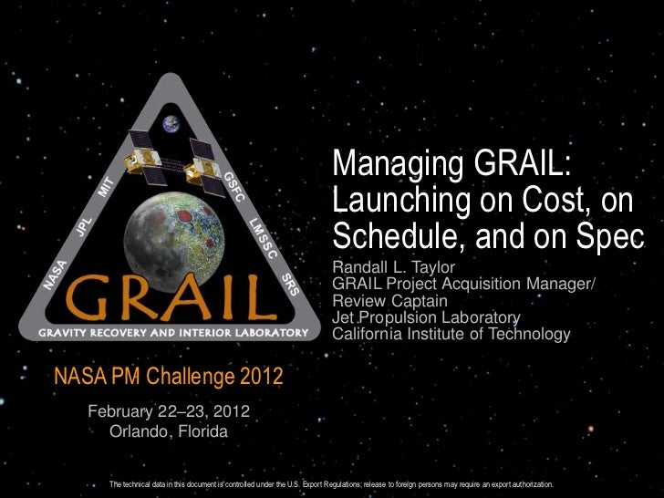 Managing GRAIL:                                                                               Launching on Cost, on       ...