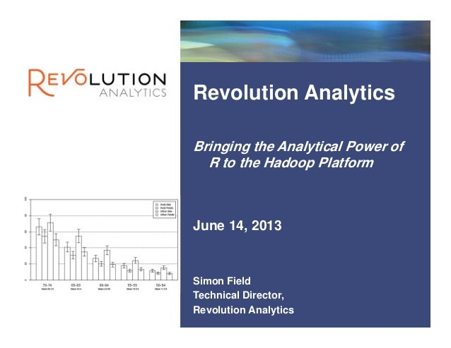 RevolutionConfidential Revolution Analytics Bringing the Analytical Power of R to the Hadoop Platform Simon Field Technic...