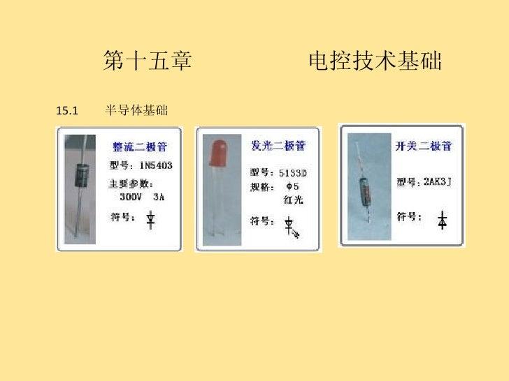 第十五章  电控技术基础 15.1  半导体基础