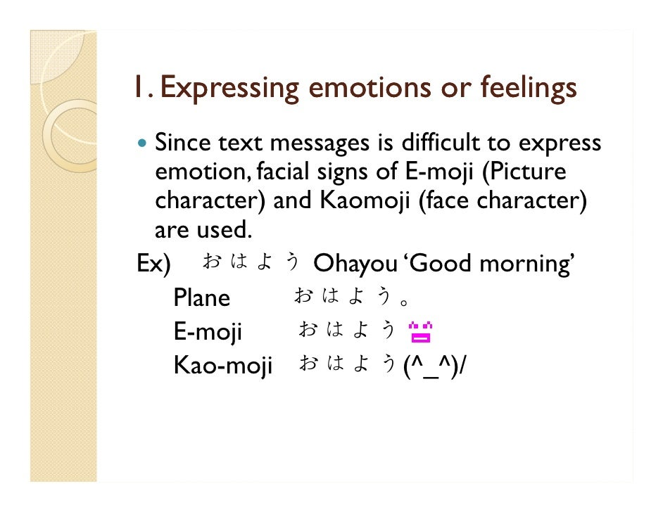 How To Write Good Morning In Japanese Hiragana : Cellphone messaging in japanese culture
