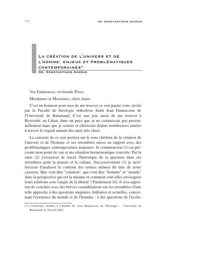 249                                                DR. KONSTANTINOS AGORAS              La création de l'univers et de    ...