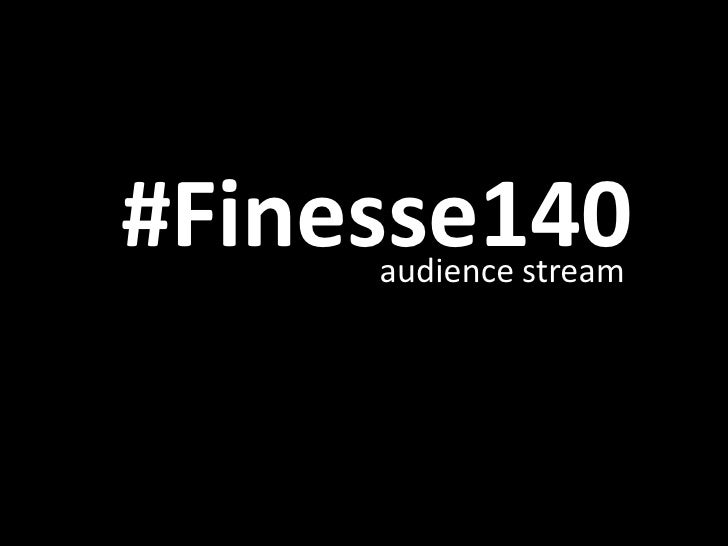 #Finesse140<br />audience stream<br />Small Businesses on Twitter<br />Photos Slide<br />