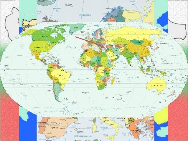 българия на картата на света Slide 2