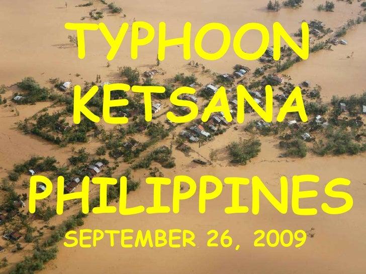 TYPHOON KETSANA PHILIPPINES SEPTEMBER 26, 2009