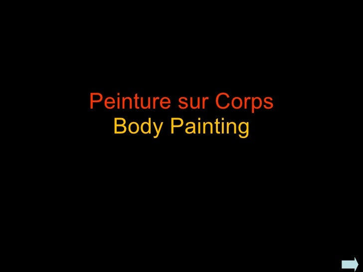 Peinture sur Corps Body Painting