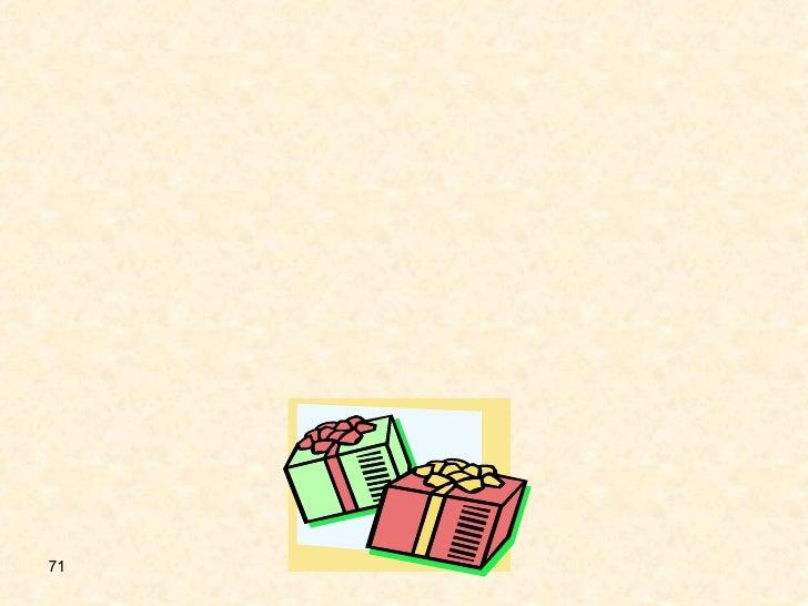 خامساً و ماذا عن قبول الهدايا و التبرعات ؟