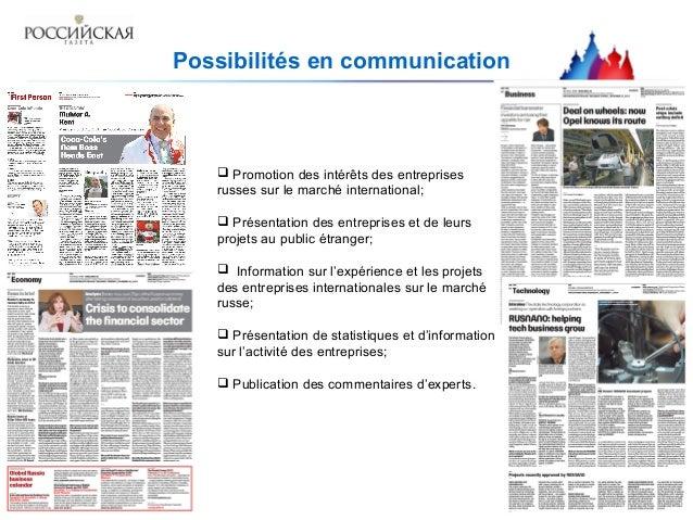 Ressources publicitaires du projet  Présentation des entreprises et leurs projets au public étranger  Promotion des prod...