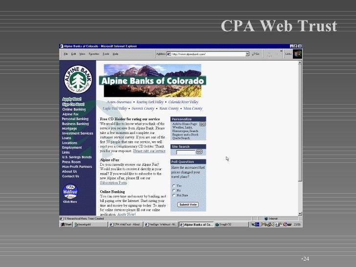 <ul><li></li></ul>CPA Web Trust