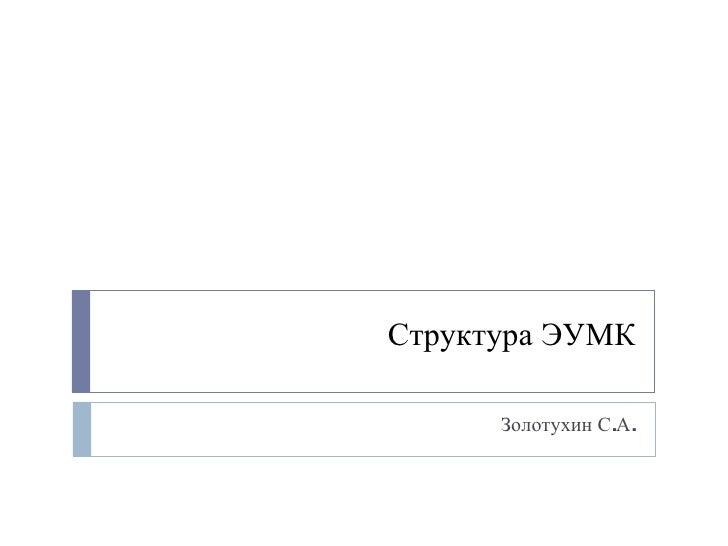 Структура ЭУМК Золотухин С.А.