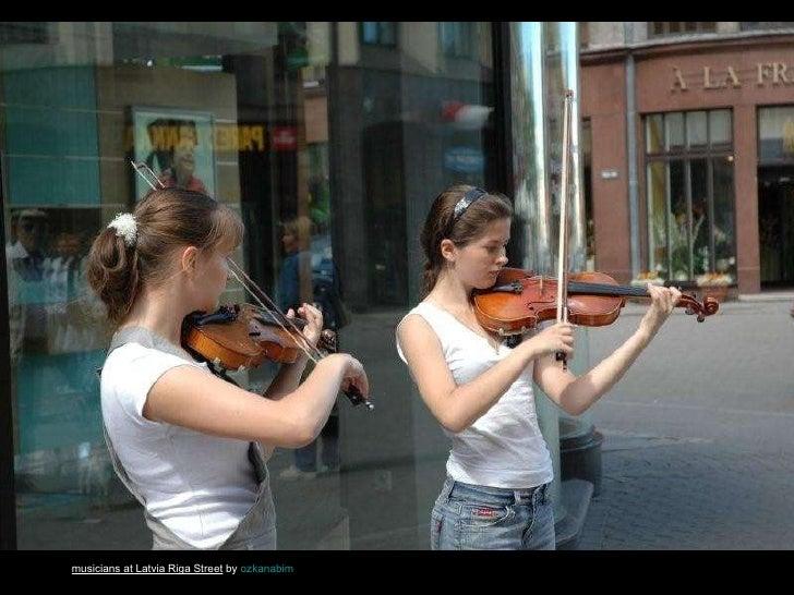 musicians at Latvia Riga Street  by  ozkanabim