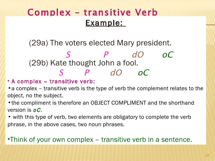 Complex Verb Examples Stay At Hand