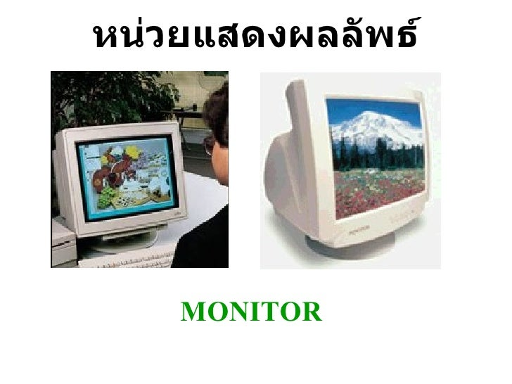 หน่วยแสดงผลลัพธ์ MONITOR