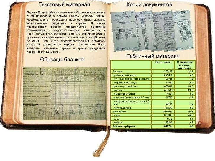 Сельскохозяйственные переписи на Псковской земле Slide 3