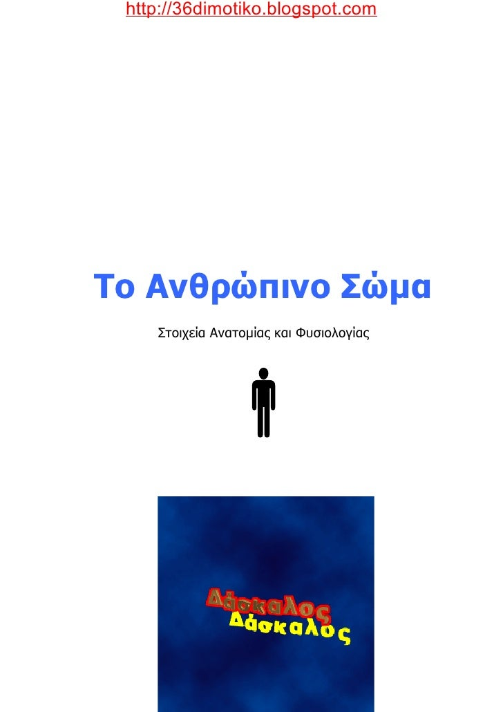 http://36dimotiko.blogspot.com     Το Ανθρώπινο Σώµα     Στοιχεία Ανατοµίας και Φυσιολογίας             Πηγή: Flash Care /...