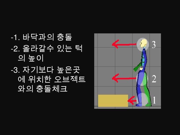 부채꼴 모양의 공격범위 와 원의 충돌<br />