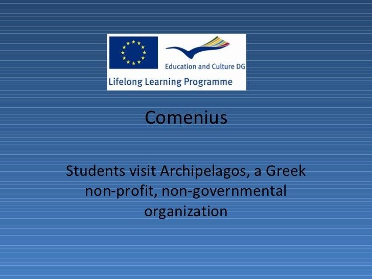 Comenius Students visit Archipelagos, a Greek non-profit, non-governmental organization