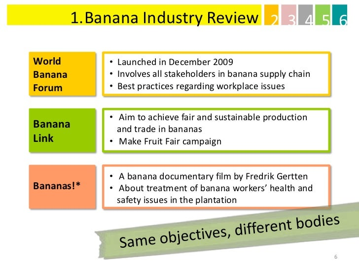 chiquita banana swot This report further covers the swot analysis of major banana players, target consumers, the feasibility of investment, research methodology, a barrier to banana business are covered in this report furthermore, the existing and forecast banana market scope is analyzed in this report.