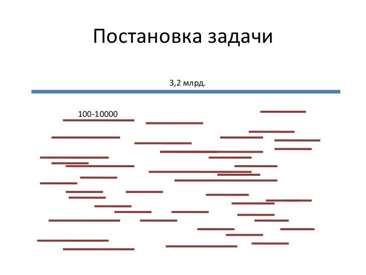Постановка задачи 3, 2  млрд. 100-10000