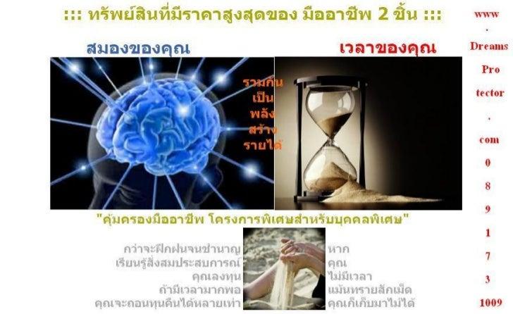 คุ้มครองค่าความสามารถของมืออาชีพ Call 089 173 1009 www.DreamsProtector.com