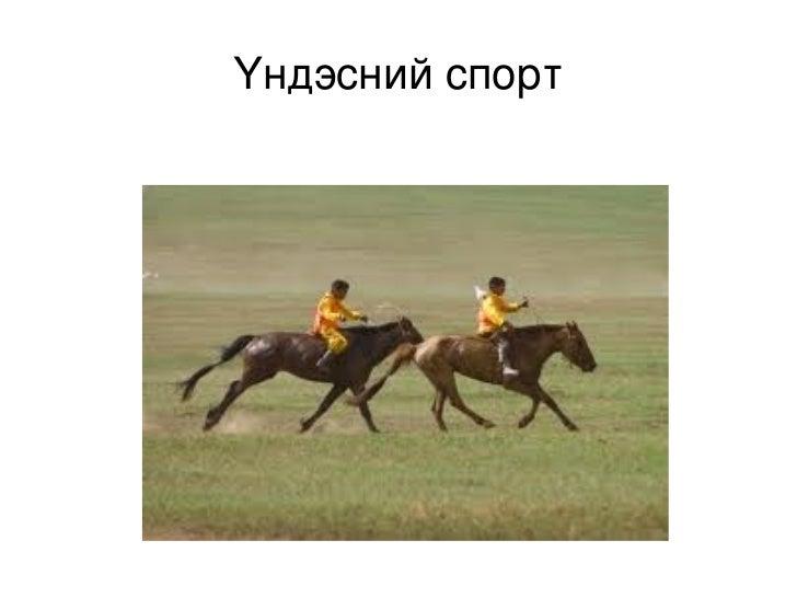 Үндэсний спорт